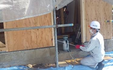 外壁合板の処理