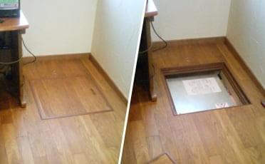 床下点検口の場合