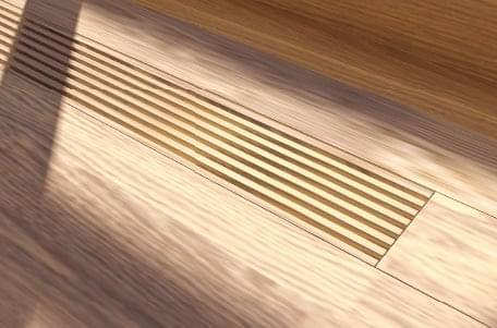 デザイン&高性能 木製床ガラリ