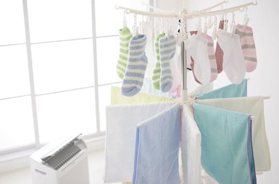 洗濯物の部屋干し乾燥