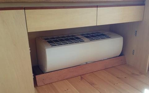 床下エアコン1台で家中暖か